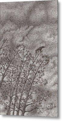 The Crow Metal Print by Wayne Hardee