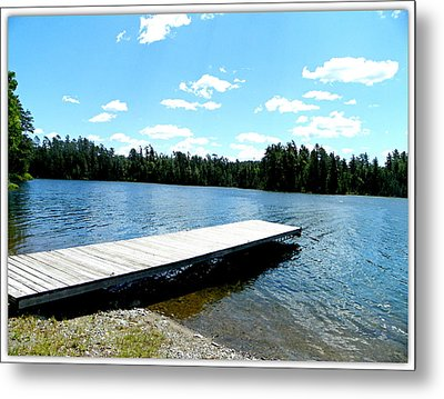 The Dock Metal Print by Dianne  Lacourciere