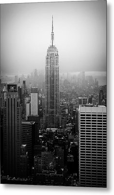 The Empire State Building In New York City Metal Print by Ilker Goksen