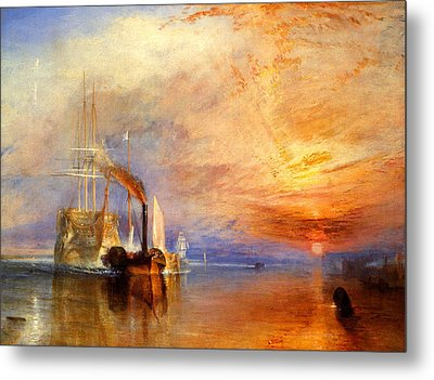 The Fighting Temeraire Tugged To Her Last Berth To Be Broken Up Metal Print