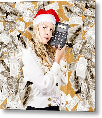 The Financial Fallout From The Cost Of Christmas Metal Print