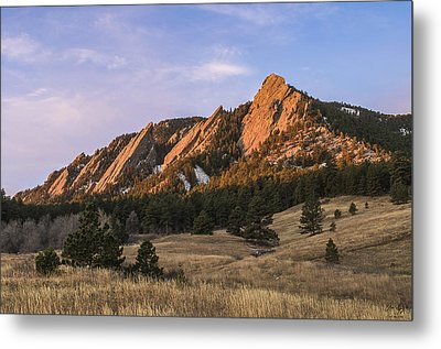 The Flatirons Metal Print