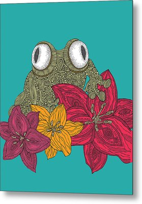 The Frog Metal Print by Valentina Ramos