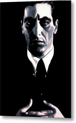The Godfather Metal Print by Luis Ludzska