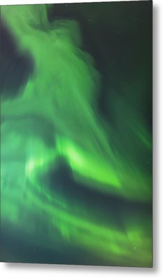 The Green Northern Lights Corona Metal Print by Kevin Smith