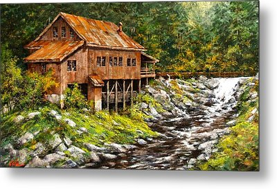 The Grist Mill Metal Print by Jim Gola