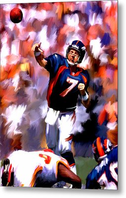 The Gun IIi  John Elway Metal Print by Iconic Images Art Gallery David Pucciarelli