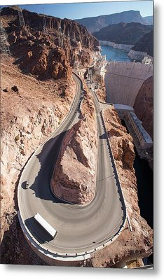 The Hoover Dam And Lake Mead Metal Print by Ashley Cooper