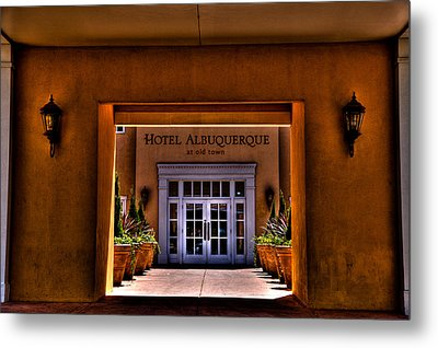 The Hotel Albuquerque Metal Print by David Patterson