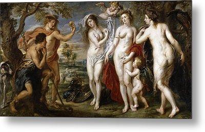 The Judgement Of Paris Metal Print by Peter Paul Rubens