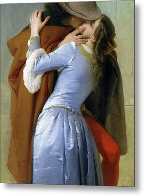 The Kiss Metal Print by Francesco Hayez