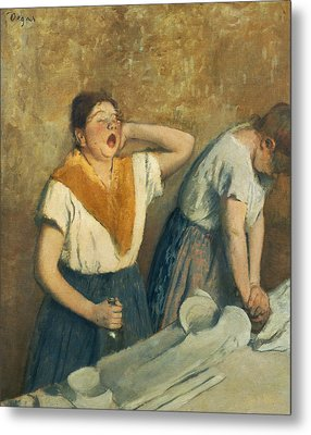 The Laundresses Metal Print by Edgar Degas