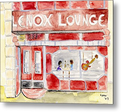 The Lenox Lounge Metal Print by AFineLyne