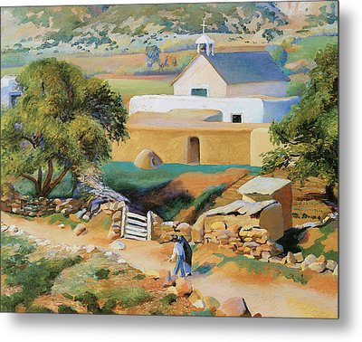 The Mission Church Metal Print by Kenneth Miller Adams