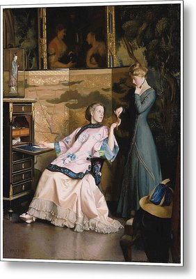 The New Necklace Metal Print by William McGregor Paxton