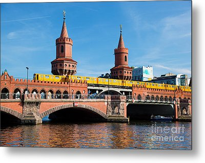 The Oberbaum Bridge In Berlin Germany Metal Print by Michal Bednarek