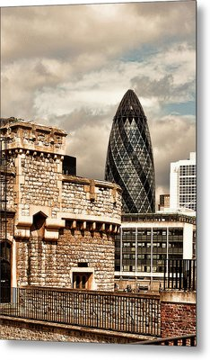 The Old And The New Metal Print by Joanna Madloch