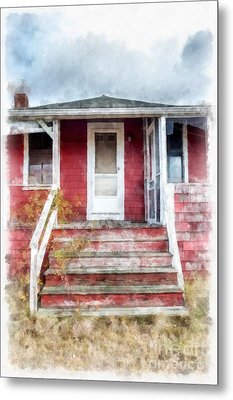 The Old Beach Cottage Metal Print