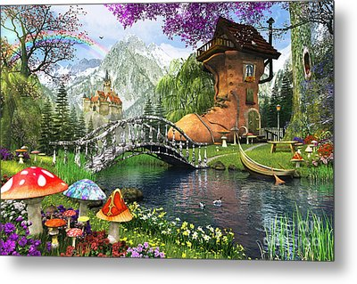 The Old Shoe House Metal Print