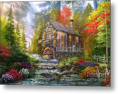 The Old Wood Mill Metal Print by Dominic Davison