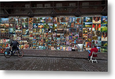 The Open Air Art Gallery Metal Print by Panoramic Images