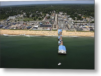The Pier At Old Orchard Beach, Maine Metal Print by Dave Cleaveland