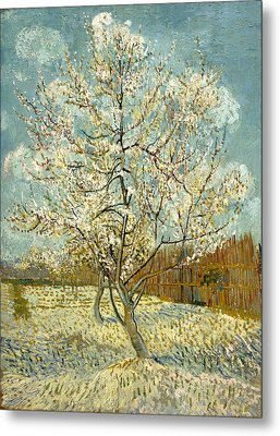 The Pink Peach Tree Metal Print