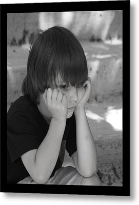 The Real Thinker Metal Print