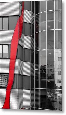The Red Line Metal Print by Christine Czernin Morzin