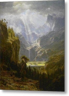 The Rocky Mountains Lander's Peak Metal Print