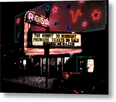 Metal Print featuring the digital art The Rosa by David Blank