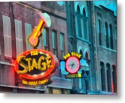 The Stage On Broadway Metal Print by Dan Sproul