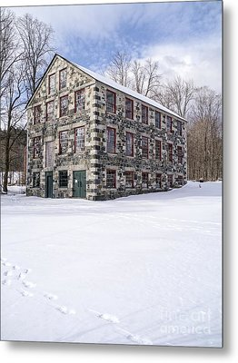 The Stone Mill At The Enfield Shaker Museum Metal Print by Edward Fielding