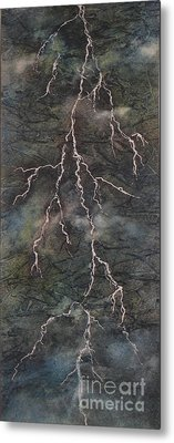 Metal Print featuring the painting The Storm by Chrisann Ellis