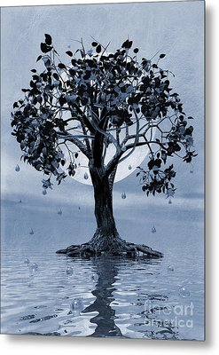 The Tree That Wept A Lake Of Tears Metal Print by John Edwards