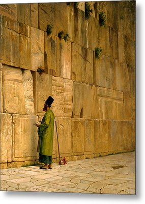 The Wailing Wall Metal Print by Jean-Leon Gerome