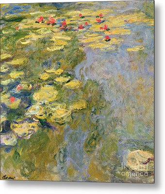 The Waterlily Pond Metal Print by Claude Monet