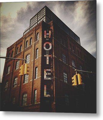 The Wythe Hotel Metal Print by Natasha Marco