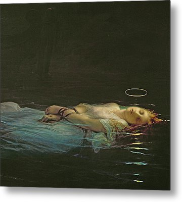 The Young Martyr Metal Print by Hippolyte Delaroche