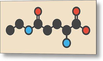 Theanine Herbal Molecule Metal Print by Molekuul