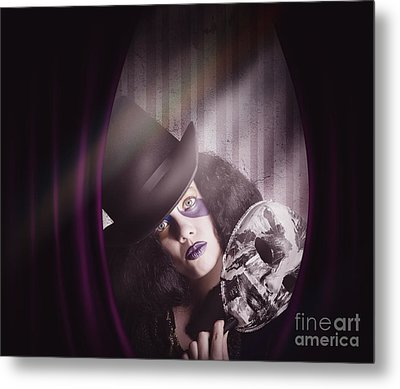 Theater Performer Play Acting Masquerade Show  Metal Print by Jorgo Photography - Wall Art Gallery