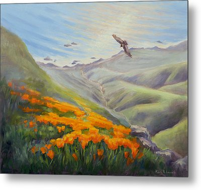 Through The Eyes Of The Condor Metal Print by Karin  Leonard