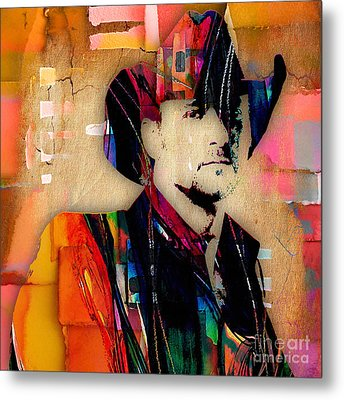 Tim Mcgraw Collection Metal Print by Marvin Blaine