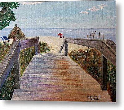 To The Beach Metal Print by Marilyn  McNish