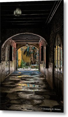To The Courtyard Metal Print by Christopher Holmes