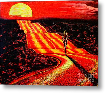 To The Sun Metal Print