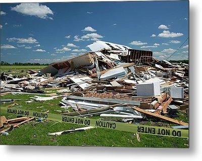 Tornado Damage Metal Print by Jim West