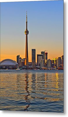 Toronto City View Metal Print by Marek Poplawski