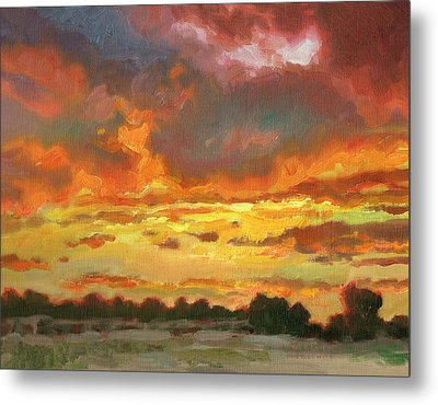 Touch Of Gold Metal Print by Kevin  McCain