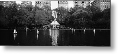 Toy Boats Floating On Water, Central Metal Print by Panoramic Images